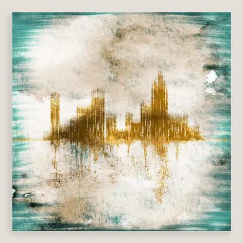 Abstract Cityscape Wall Art