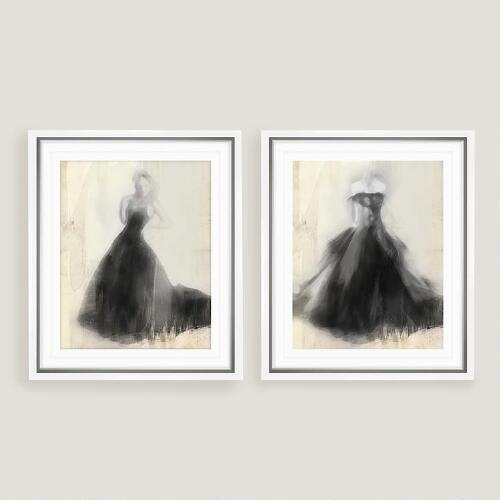 Fancy Night Out I and II Wall Art