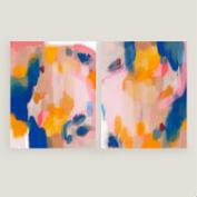 Pink and Fun I and II Wall Art Set of 2