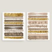 Neutral Streaks I and II Wall Art Set of 2