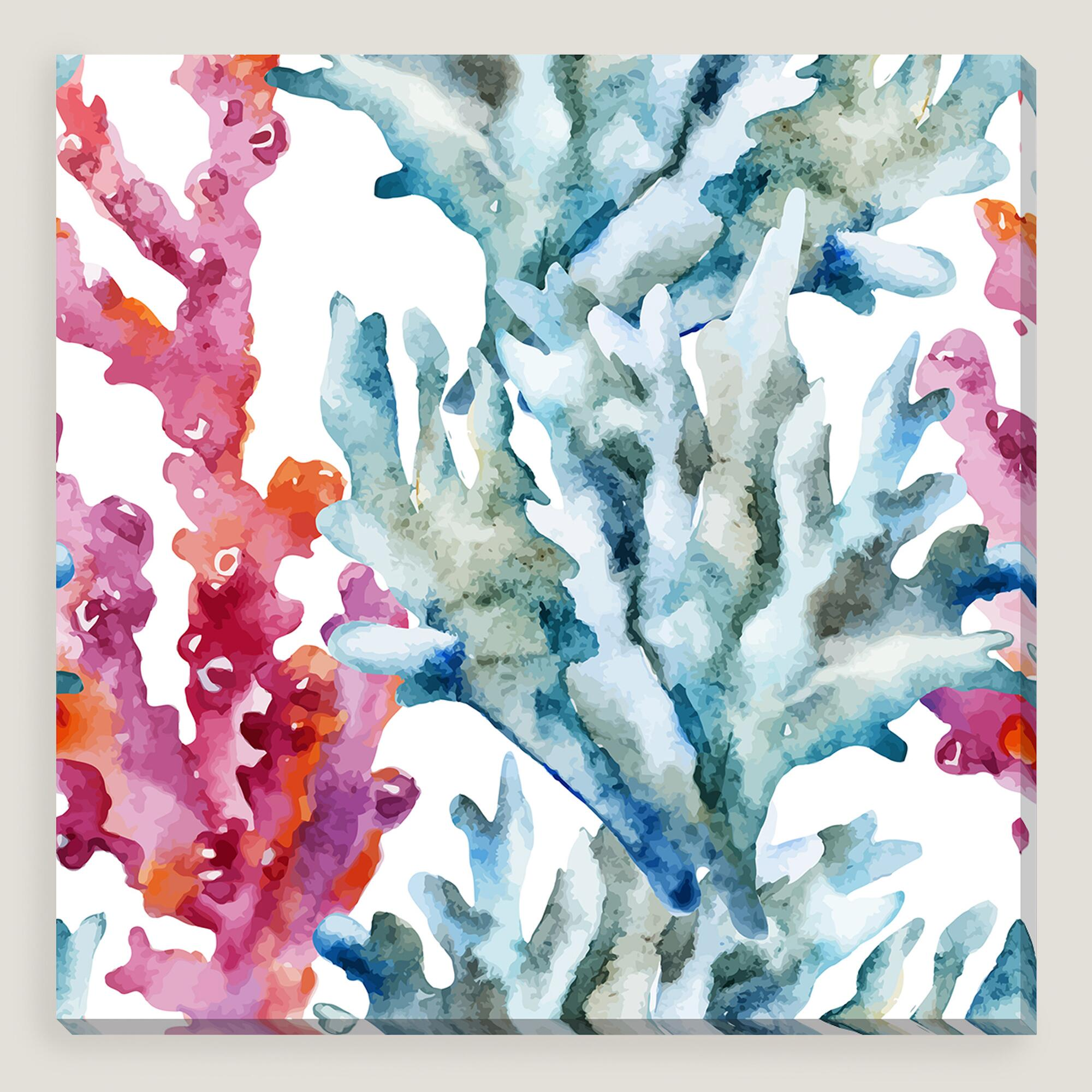 Corals with Shells and Crabs Wall Art