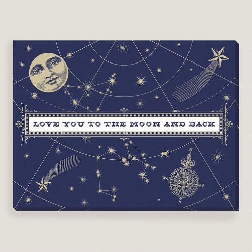 Navy Love You to the Moon by Shelley Weir