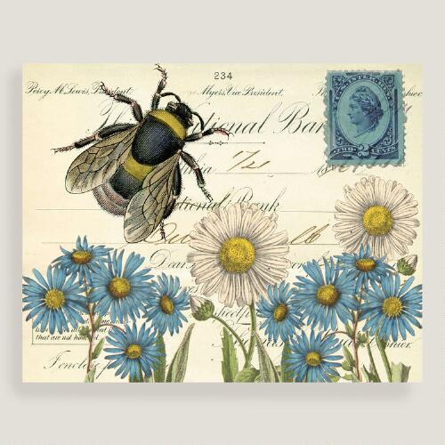 Daisies and Bumblebee Wall Art