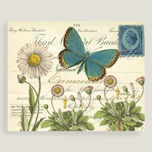 Daisies and Butterfly Wall Art