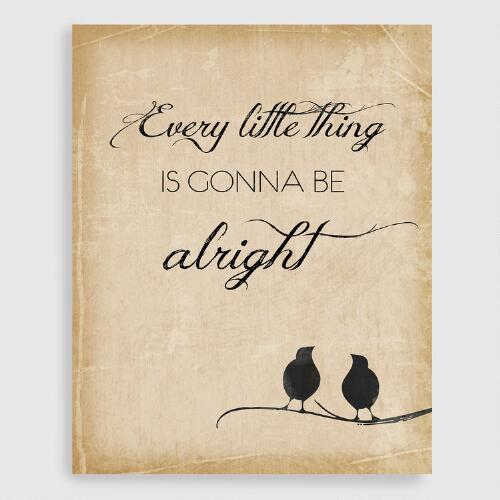 Everything is Gonna be Alright Wall Art