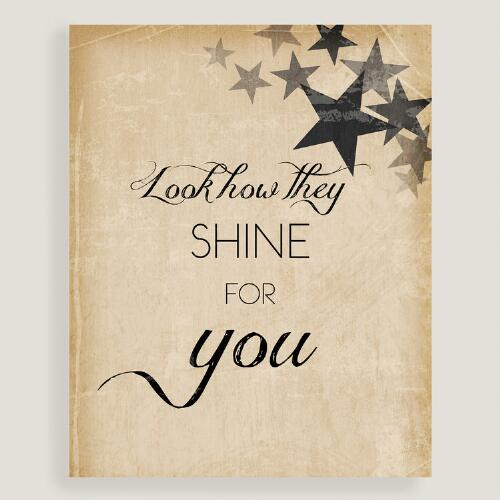 Look How They Shine for You Wall Art