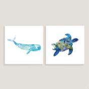 Turtle 5 and Whale I Set of 2