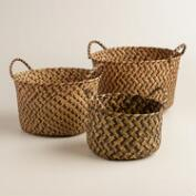 Brown Round Michelle Storage Baskets