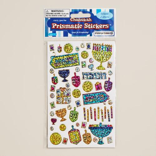 Hanukkah Prismatic Stickers, Set of 2