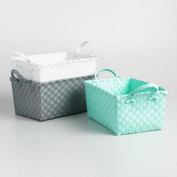 Basket Weave Shower Caddy