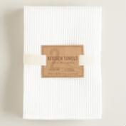 Waffle Weave Microfiber Kitchen Towels, Set of 2