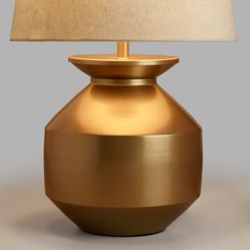 Gold Matki Table Lamp Base