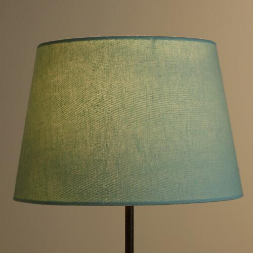 Ocean Blue Linen Table Lamp Shade