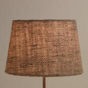 Chevron Herringbone Jute Accent Lamp Shade