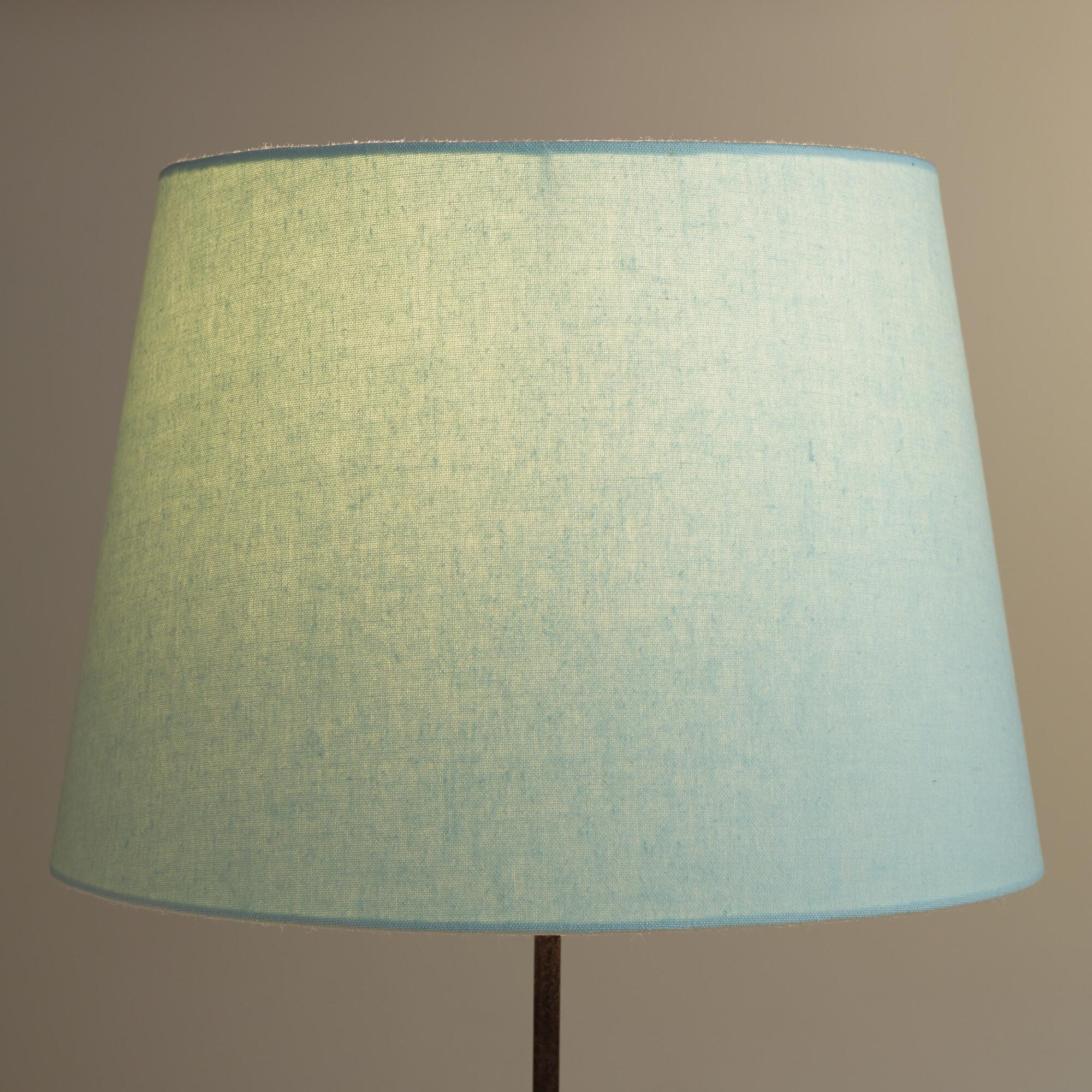 Sea Lamps: Sea Blue Linen Table Lamp Shade