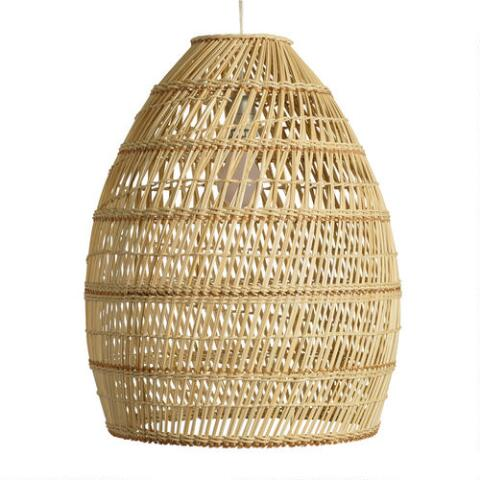 Basket Weave Bamboo Pendant Shade World Market