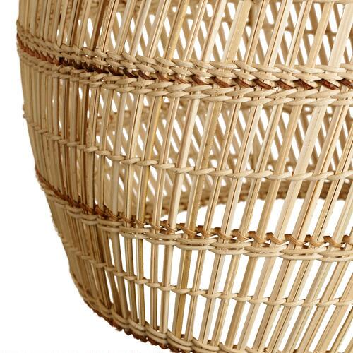 Basket Weaving With Bamboo : Basket weave bamboo pendant shade world market