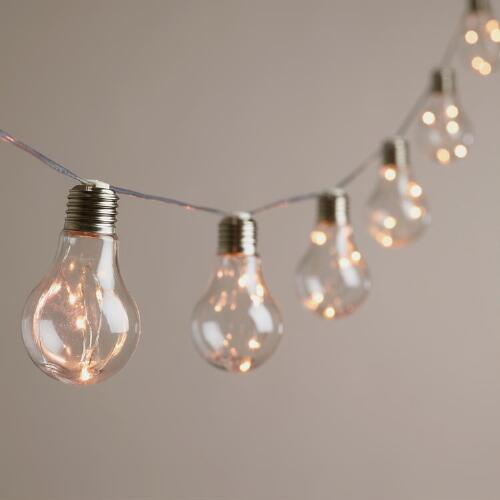 String Lights With Battery: Edison Firefly 10 Bulb Battery Operated String Lights