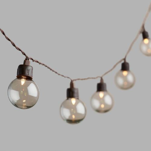 Clear Orb Solar LED 20 Bulb String Lights