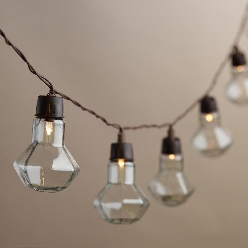 Clear Diamond Solar LED 20 Bulb String Lights
