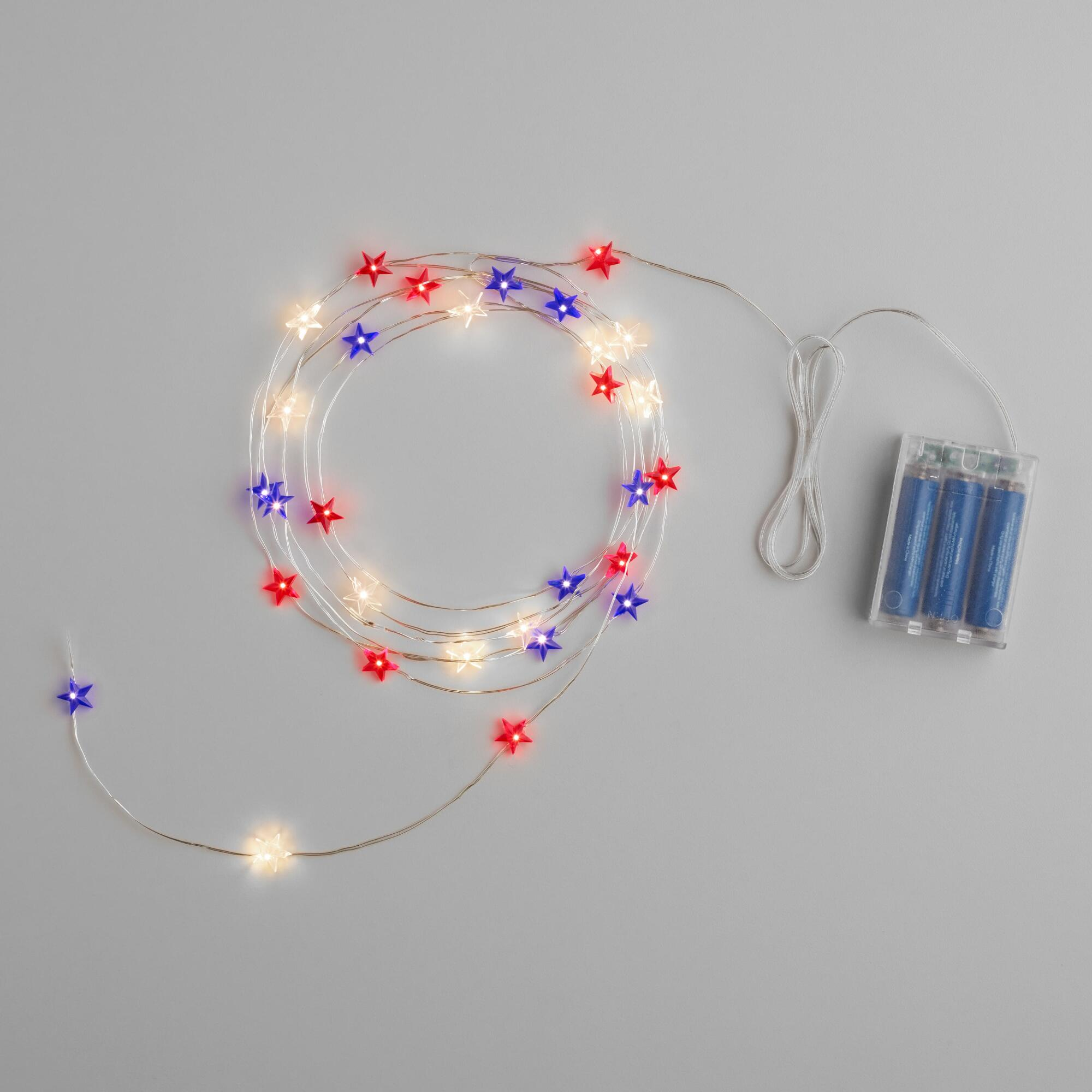 Led String Lights Micro : Star Micro LED Battery Operated 30 Bulb String Lights World Market