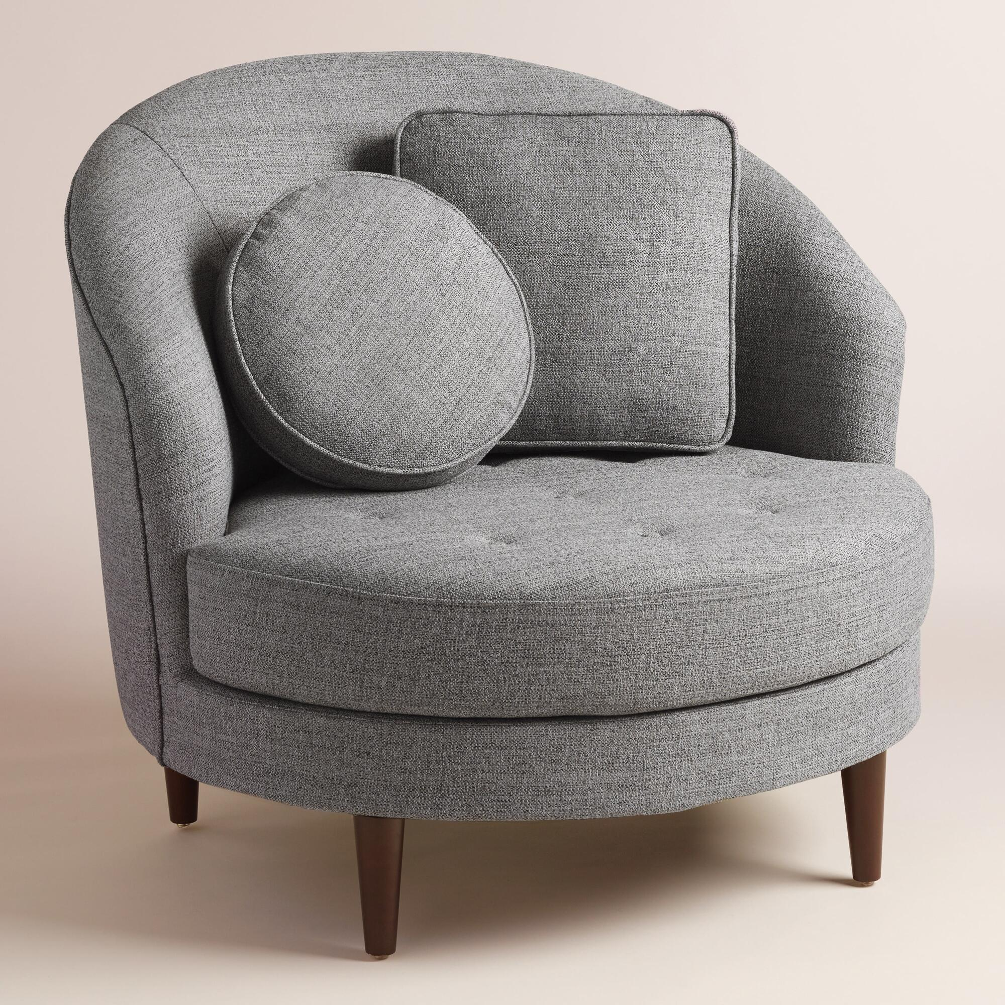 Gray Round Seren Chair And A Half World Market
