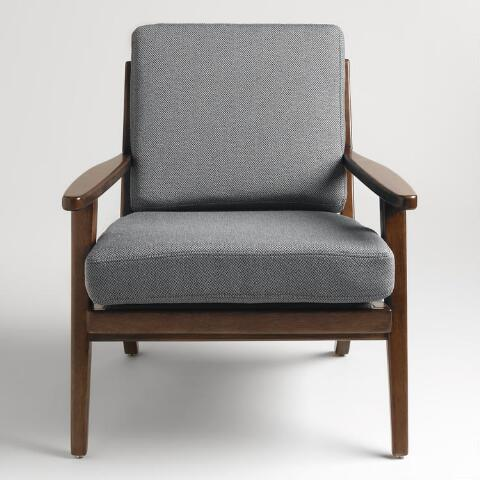 Slate Gray Xander Armchair | World Market