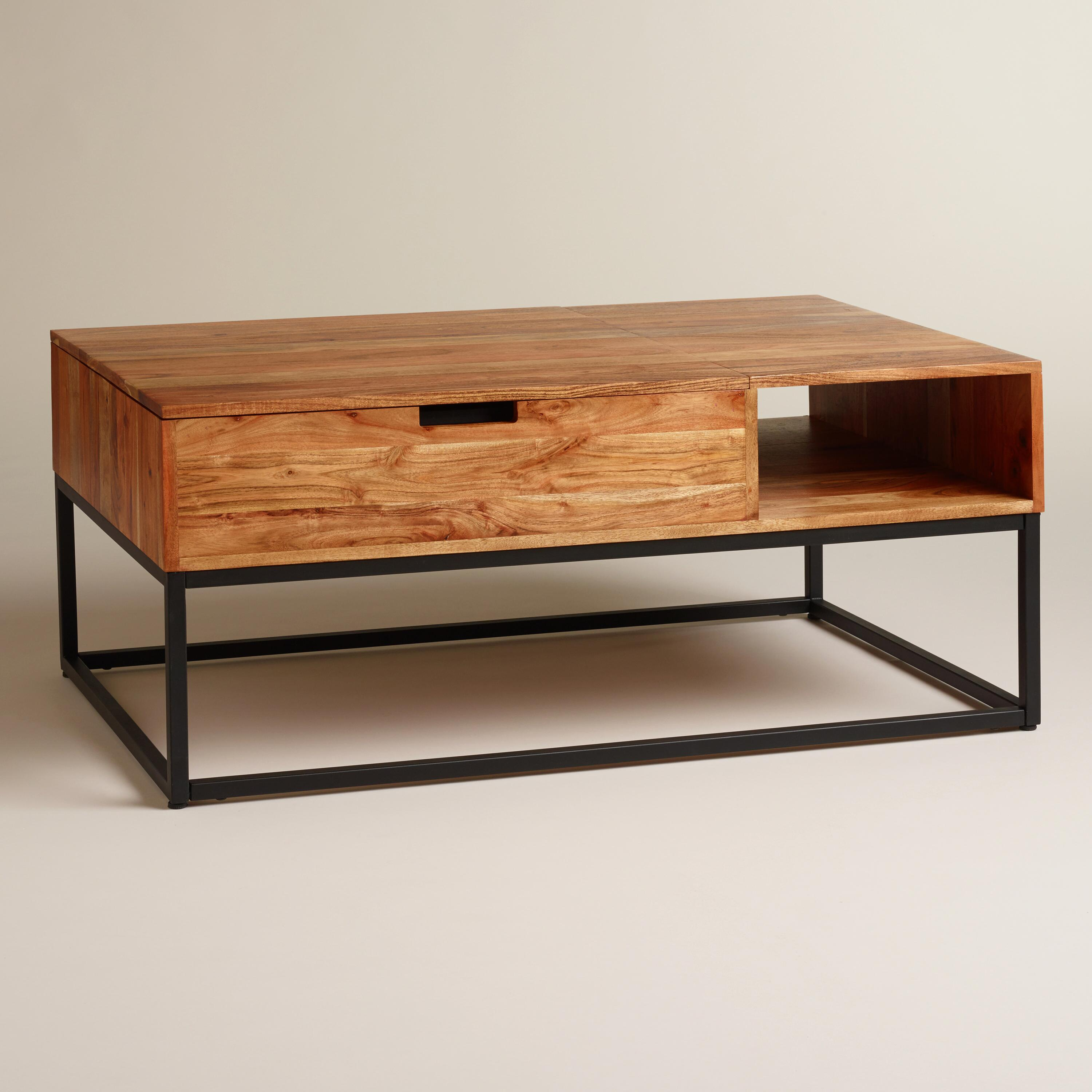 wood silas storage coffee table world market