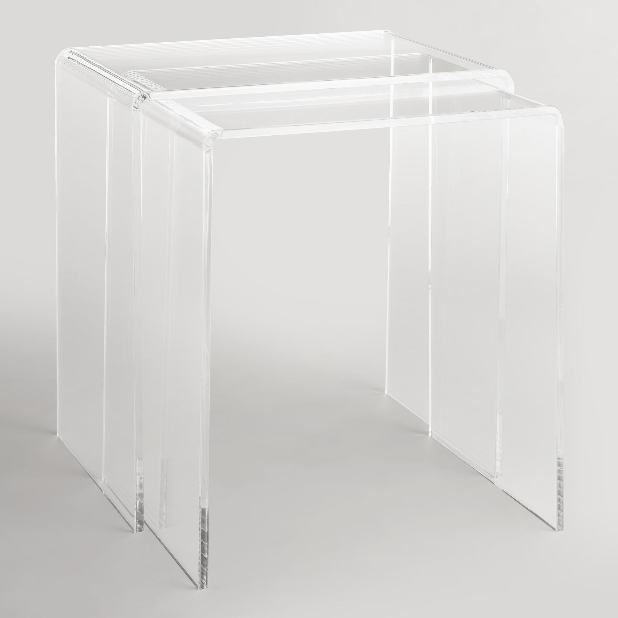 Clear acrylic thad nesting tables set of world market