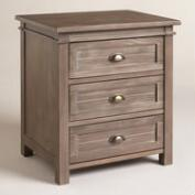 Gray Wood Layne Nightstand