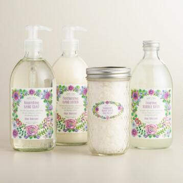 Bird and Bee Lilac Blossom Bath and Body Collection