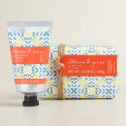 A&G Geometric Grapefruit Bath and Body Collection