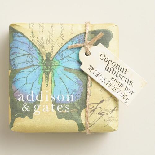 A&G Butterfly Coconut Hibiscus Bar Soaps Set of 2