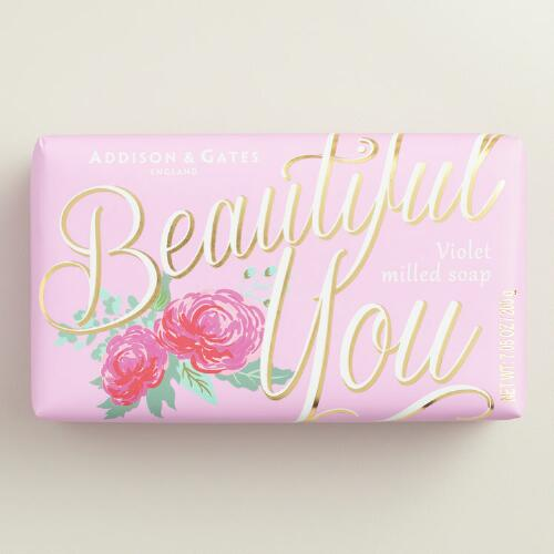 A&G Beautiful You Violet Bar Soaps Set of 2