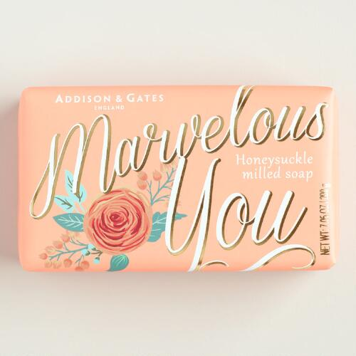 A&G Marvelous You Honeysuckle Bar Soaps Set of 2
