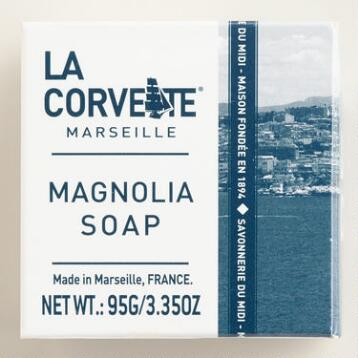 La Corvette Marseille Magnolia Cube Soaps Set of 2