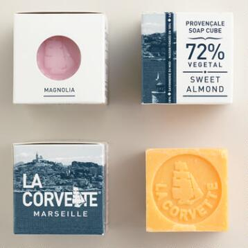 La Corvette Marseille Cube Soap Collection