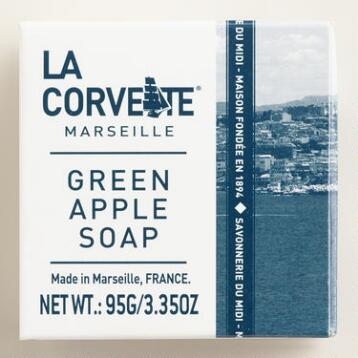 La Corvette Marseille Green Apple Cube Soaps Set of 2