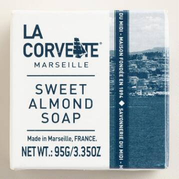 La Corvette Marseille Sweet Almond Cube Soaps Set of 2