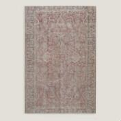 6.7x9.9 Vintage Soft Floral Medallion Turkish Area Rug
