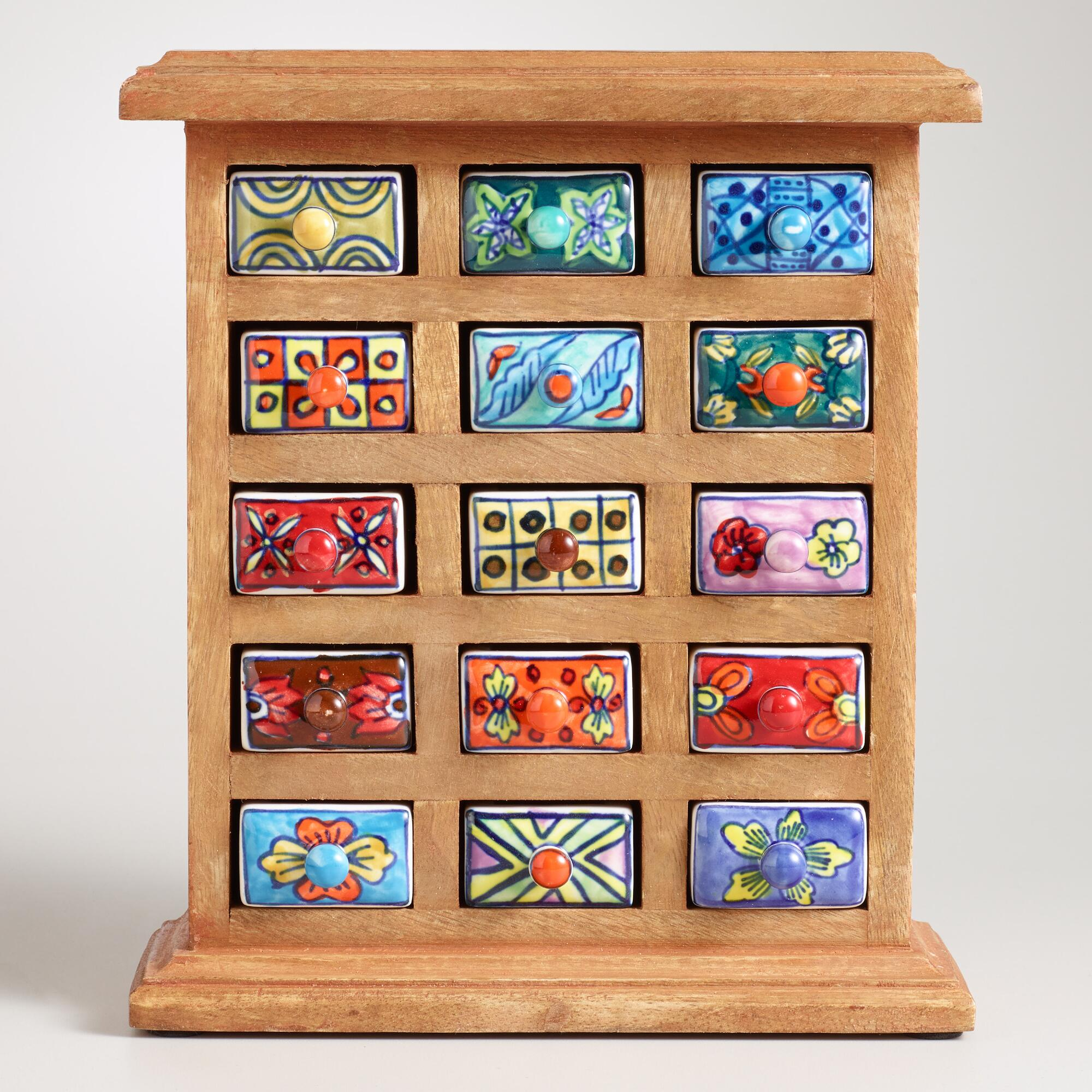 Marvelous photograph of Handmade Ceramic Drawer Wood Chest World Market with #A82B23 color and 2000x2000 pixels