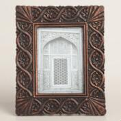 Black and Copper Carved Mira Frame