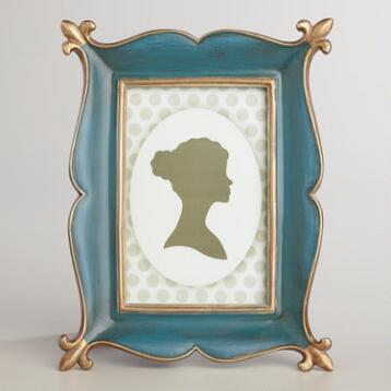 Blue and Gold Ornate Phoebe Frame