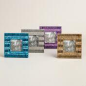 Small Square Peacock Lac Frames Set of 4