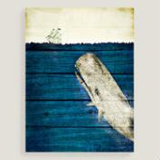 Blue Whale Canvas Wall Art