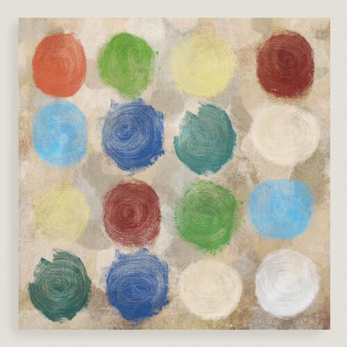 Painted Circles Canvas Wall Art