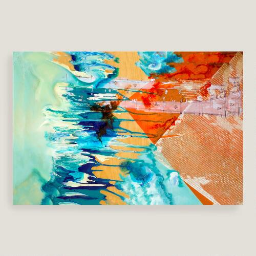 Abstract Stripes Canvas  Wall Art