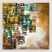 Abstract Typography Canvas Wall Art