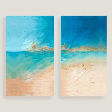 Sandy Shores Canvas Wall Art Set of Two