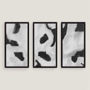 Black and Gray Wall Art Set of Three